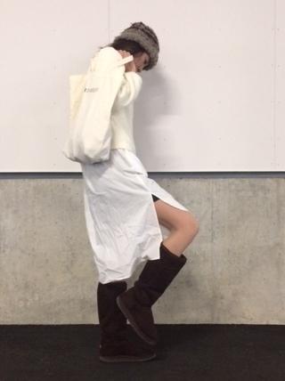 冬のシャツワンピコーデ (2)