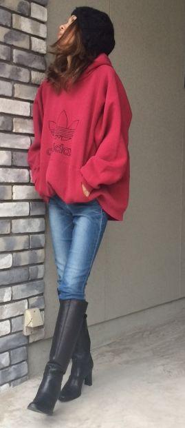 adidas 大人カジュアルコーデ