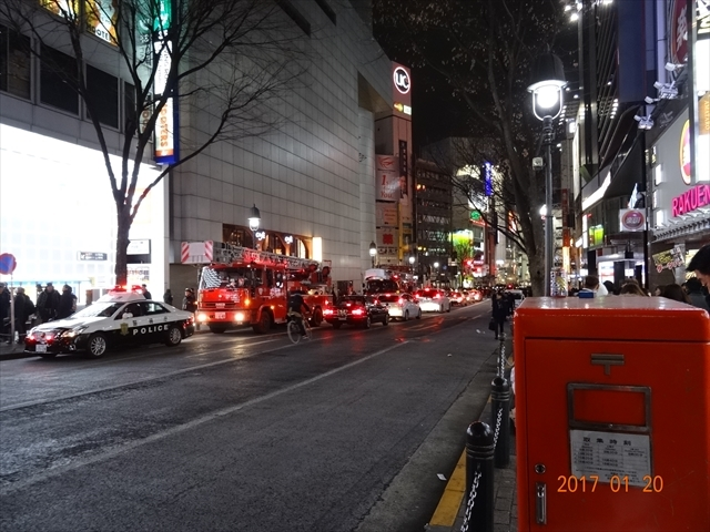 渋谷 火事(2)