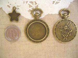 ミール皿:星、トランプウサギの懐中時計