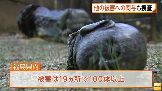 ③韓国籍のチョンスンホが御神体石像木像など100体破壊!