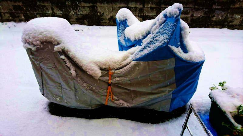 冠雪のバイクカバー