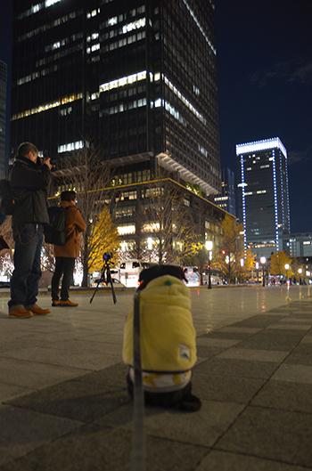東京駅撮る父