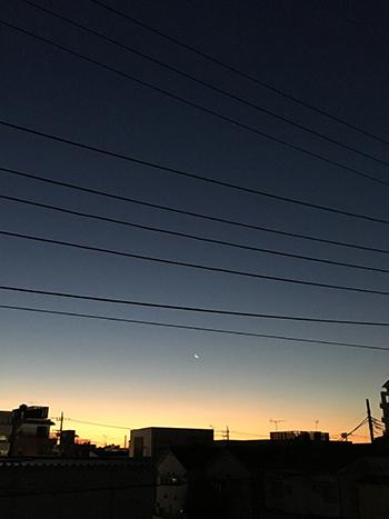 寒い日の朝焼け