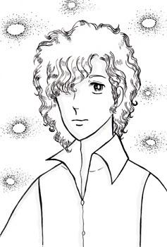 ペン画(男性キャラクター2)