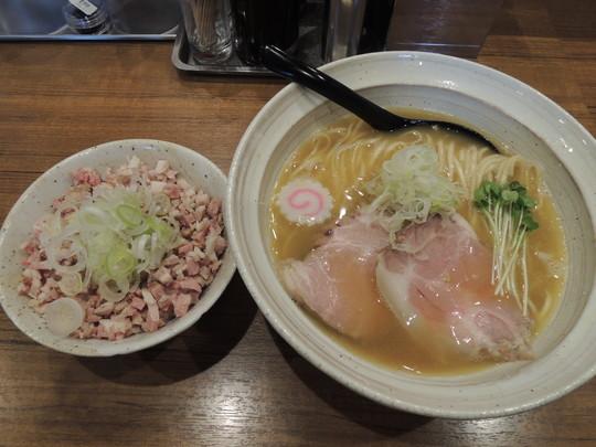 鶏そば+チャーシュー丼セット