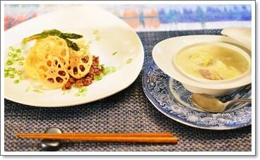 夕飯は豆腐ステーキ&白菜シチュー
