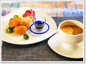 コロッケ&スープ