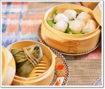 中華粽&海老蒸し餃子