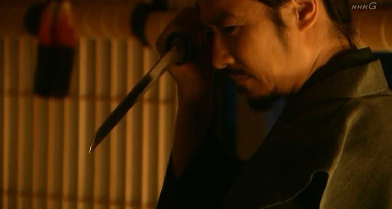 織田有楽斎の裏切りに気づき、刃を向ける真田幸村 真田丸