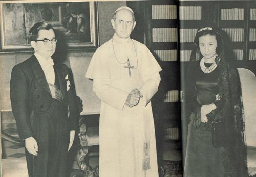 常陸宮ご夫妻とローマ法王