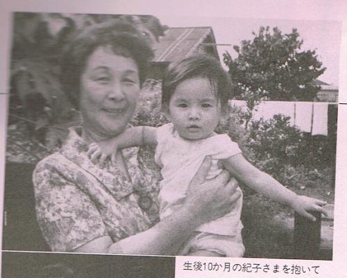 母方の祖母と一緒に