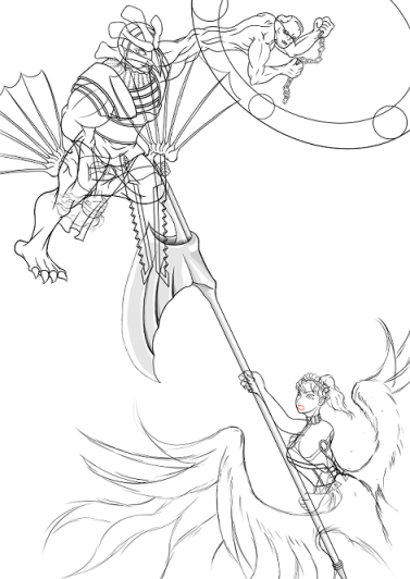 女神vs魔神_白書き