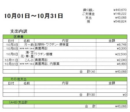 201610支出内訳