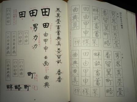 田のある漢字旧