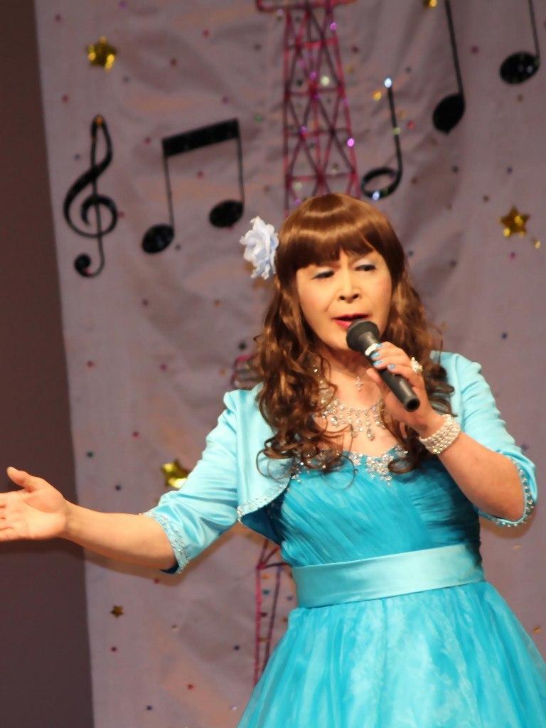 水色ドレス舞台(3)