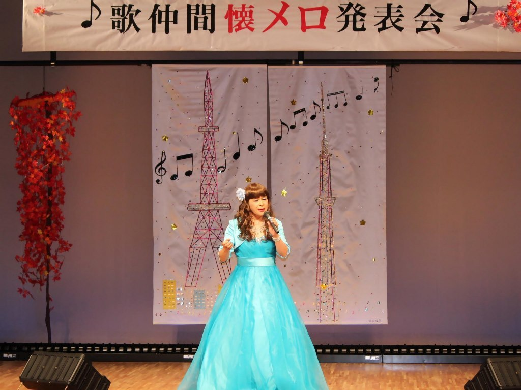 水色ドレス舞台(4)