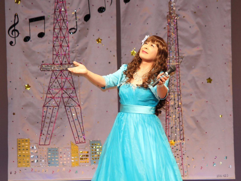 水色ドレス舞台(6)