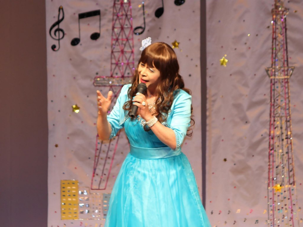 水色ドレス舞台(7)