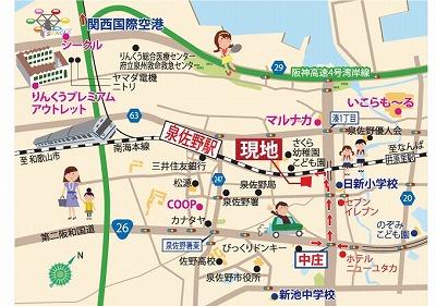 泉佐野プレミアムガ-デンの地図