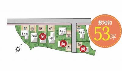泉佐野プレミアムガ-デンの区画図