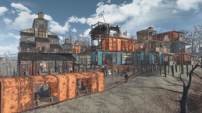 【fallout4】オバーランド駅(昼)