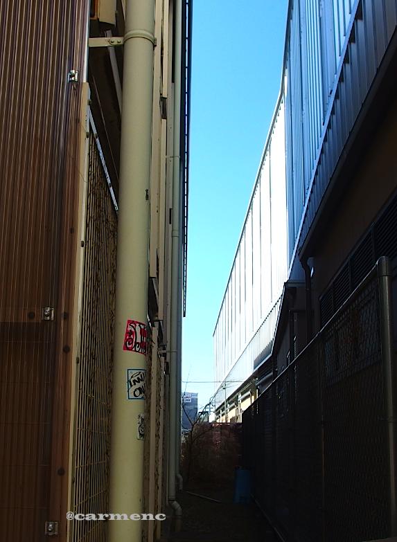 線路沿い隙間