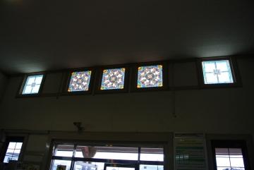 白河駅ステンドグラス