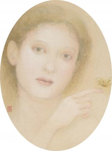 蝶と蜜   日本画