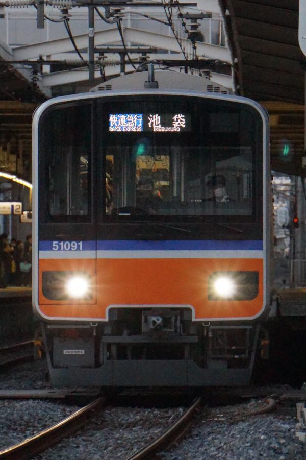 2016-12-10 東武51091F 快速急行池袋行き