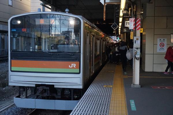2016-12-10 八高・川越線205系ハエ81編成 回送