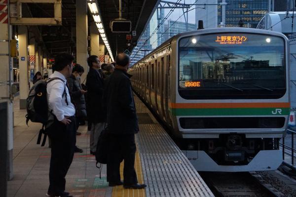 2016-12-15 近郊型E231系ヤマU57編成 上野東京ライン宇都宮行き