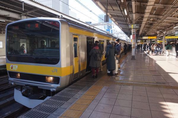 2016-12-15 総武線E231系ミツB2編成 千葉行き2