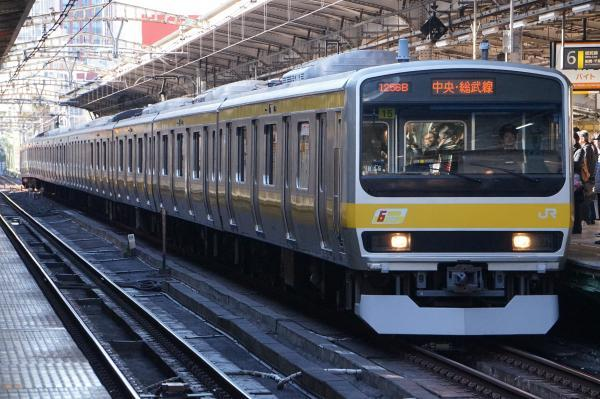2016-12-15 総武線E231系ミツB15編成 千葉行き