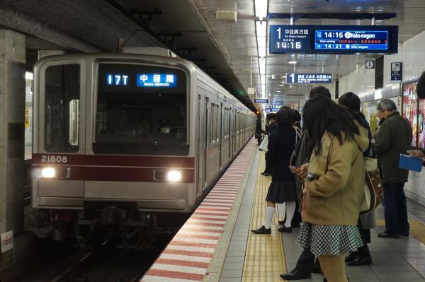 2016-12-15 東武21808F 中目黒行き
