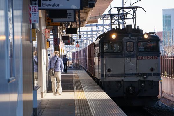 2016-12-17 EF65 2087牽引 貨物列車