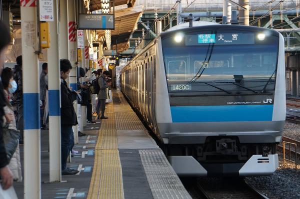 2016-12-17 京浜東北線E233系サイ103編成 各駅停車大宮行き