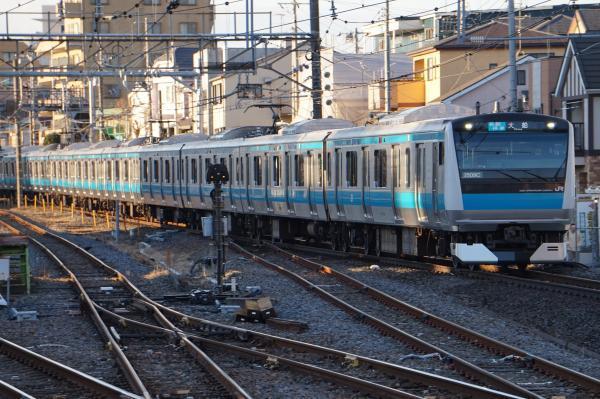2016-12-17 京浜東北線E233系サイ163編成 各駅停車大船行き