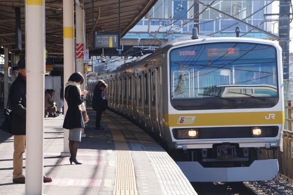 2016-12-17 総武線E231系ミツB13編成 三鷹行き