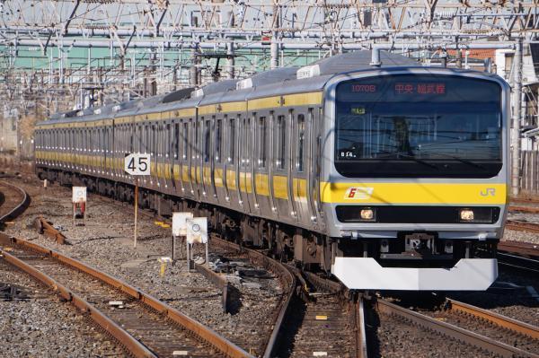 2016-12-17 総武線E231系ミツB16編成 千葉行き