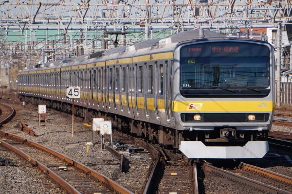 2016-12-17 総武線E231系ミツB34編成 千葉行き