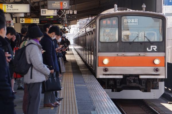 2016-12-17 武蔵野線205系ケヨM5編成 府中本町行き