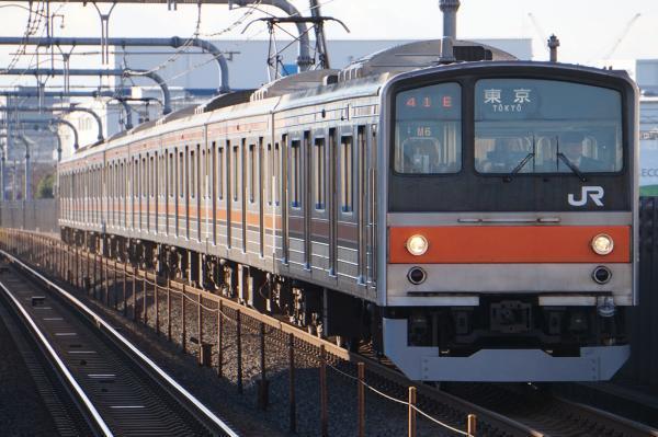 2016-12-17 武蔵野線205系ケヨM6編成 東京行き