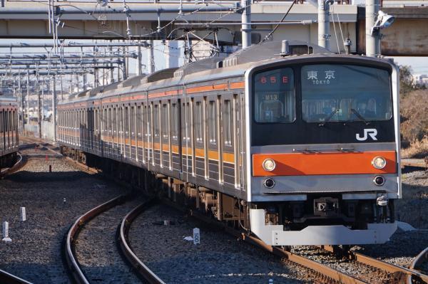 2016-12-17 武蔵野線205系ケヨM13編成 東京行き