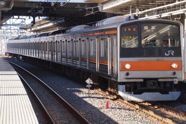 2016-12-17 武蔵野線205系ケヨM19編成 東京行き