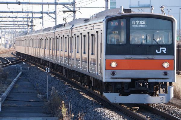 2016-12-17 武蔵野線205系ケヨM25編成 府中本町行き