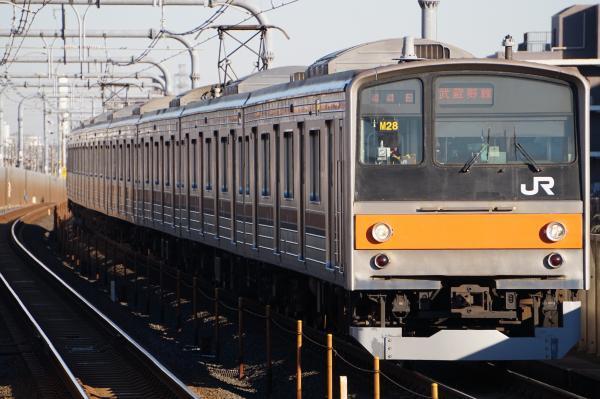 2016-12-17 武蔵野線205系ケヨM28編成 府中本町行き
