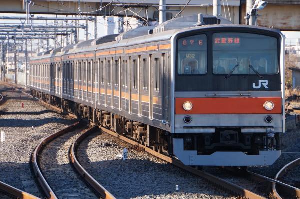 2016-12-17 武蔵野線205系ケヨM32編成 南船橋行き