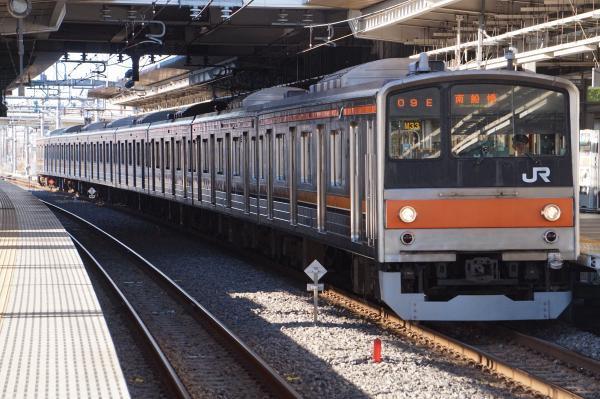 2016-12-17 武蔵野線205系ケヨM33編成 南船橋行き