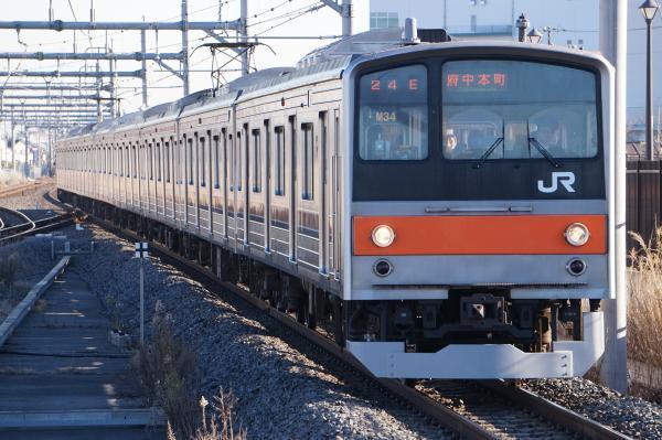 2016-12-17 武蔵野線205系ケヨM34編成 府中本町行き